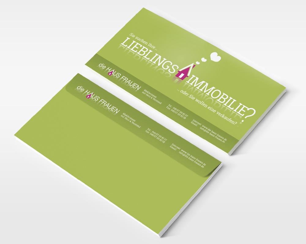 Gestaltung Flyer Immobilienmaklerinnen