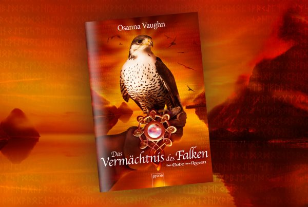 Buchcover Gestaltung für die Falkensaga von Osanna Vaughn